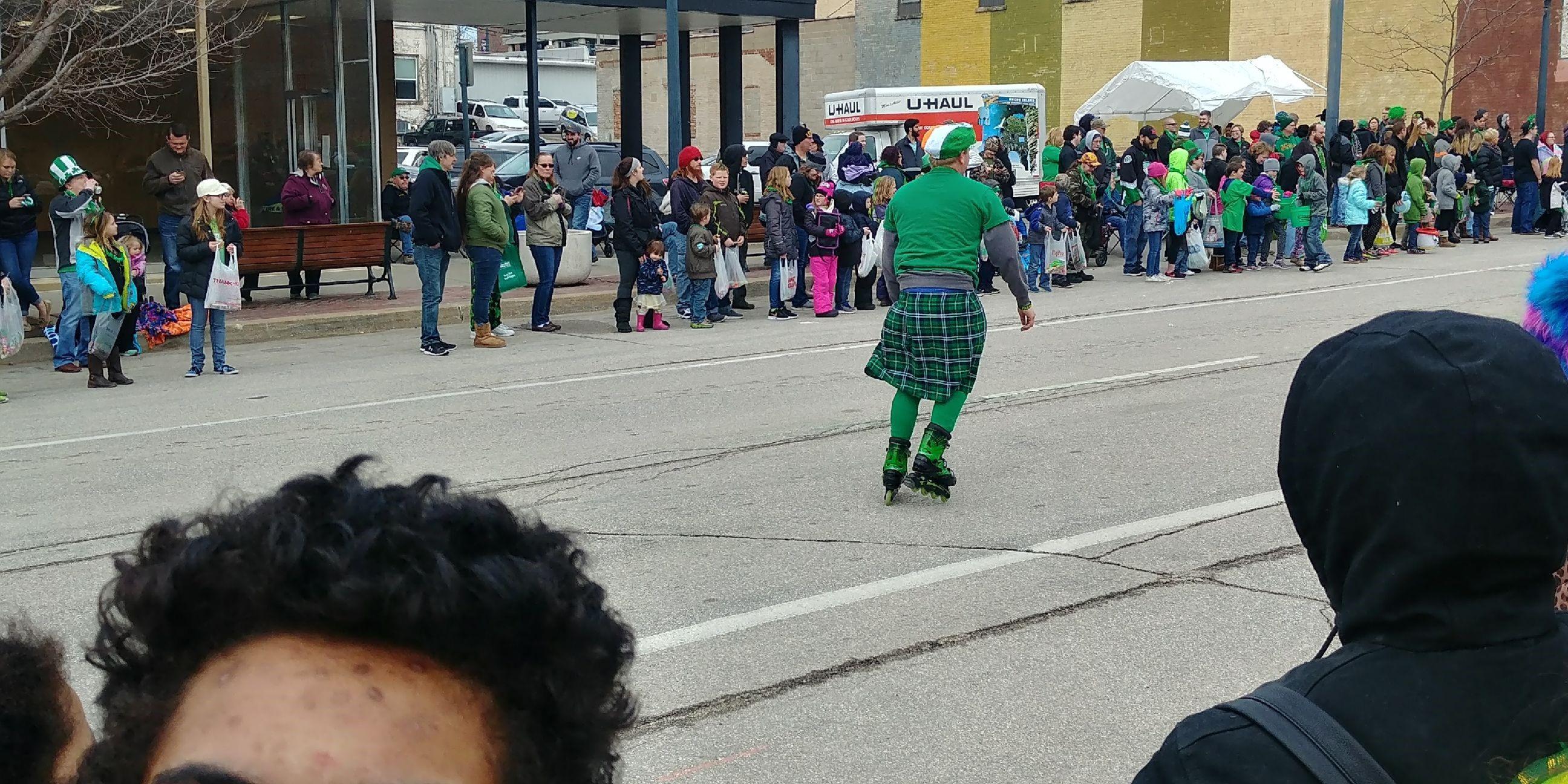 Skater Wearing Kilt